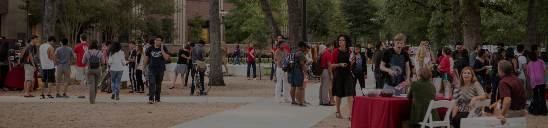 University of Houston Outdoor Event on Campus