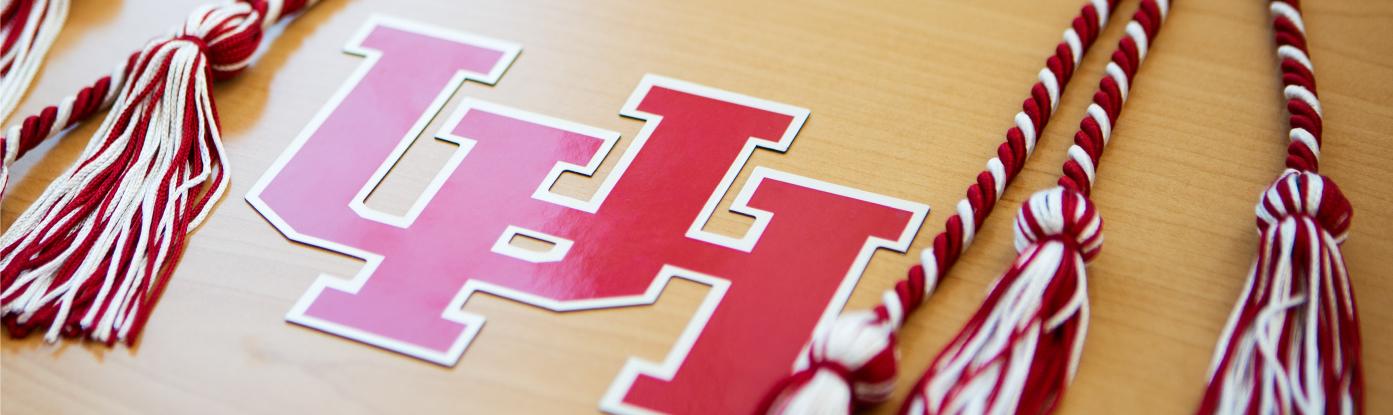University of Houston Logo and Tassels