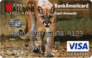 University of Houston Alumni Association BankAmericard