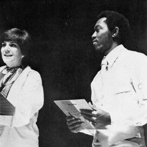Sylvester Turner receiving an award for Outstanding Contribution to Campus Activities in 1977.