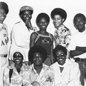Sylvester Turner (back row, right) with fellow students of The Black Student Union. They served to orient black students to UH campus life.