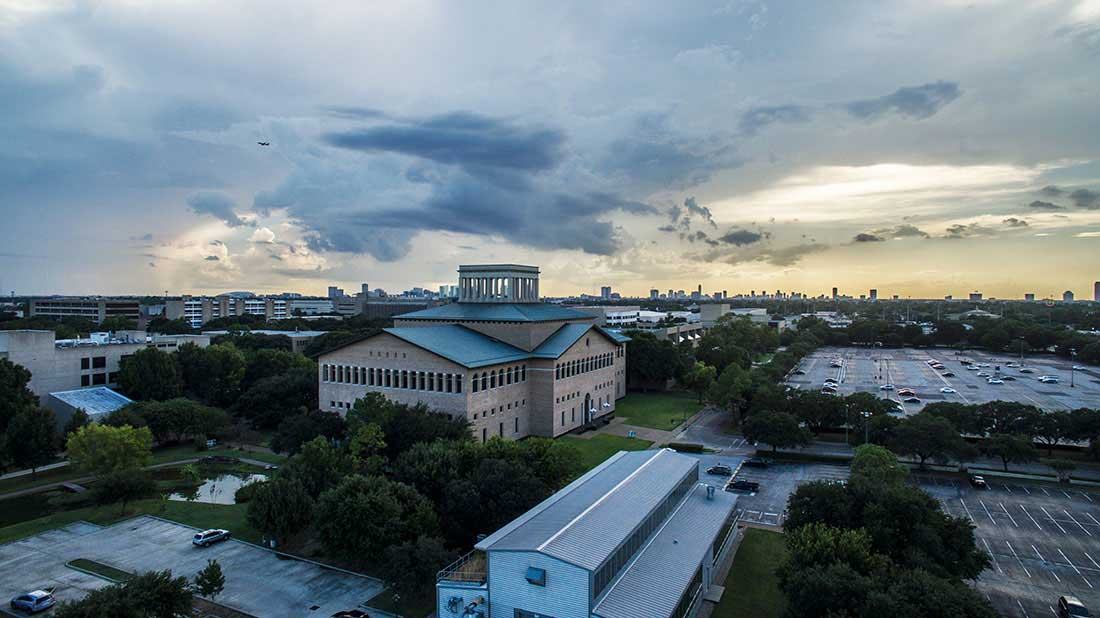 sunset over UH