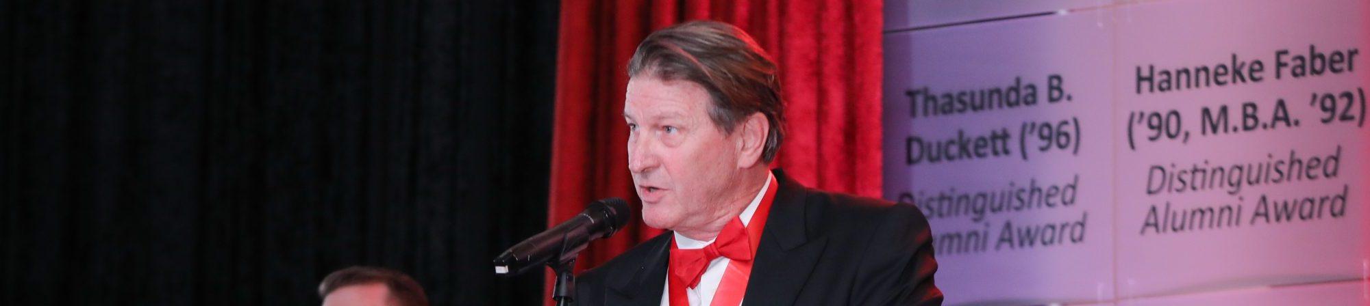 Brett-Cullen at the UHAA alumni gala awards