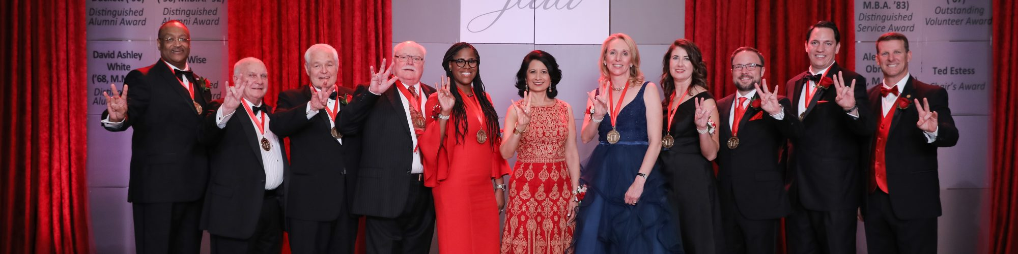 All-Honoree and-CP-Khator at the UHAA alumni gala awards